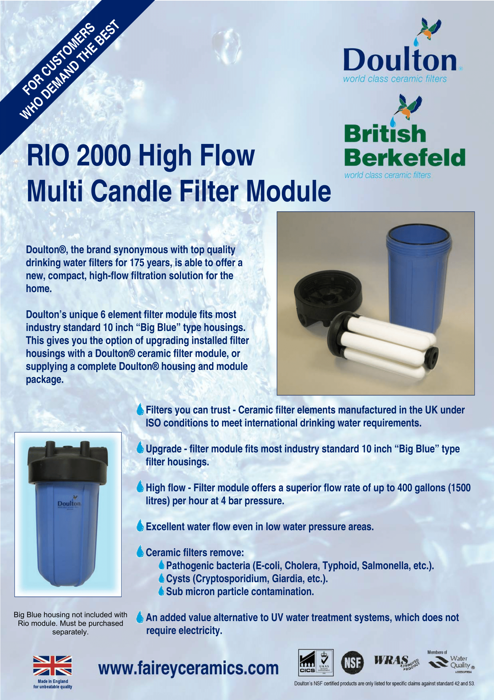 Rio 2000 High Flow Multi Candle Filter Module